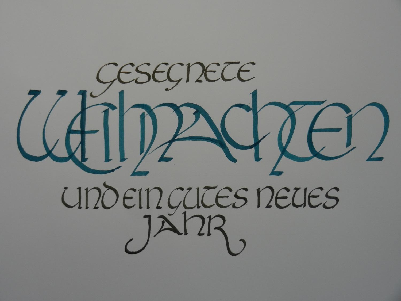 Kalligrafie Weihnachten