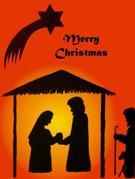 Weihnachtliche Silhouette Englisch