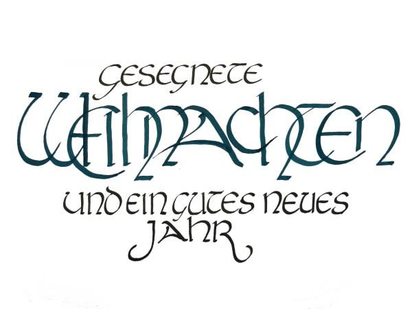 Weihnachtsgruss Kalligrafie