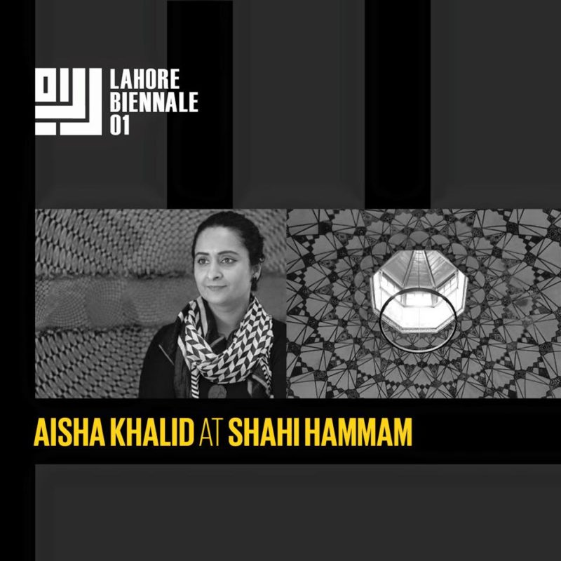Aisha Khalid at the Lahore Biennale 01