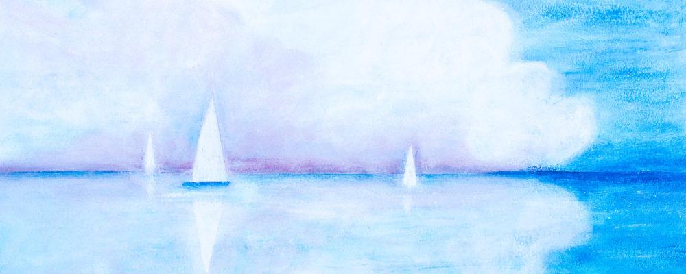 580604 Weiße Wolke * White Cloud (Horizont Serie)