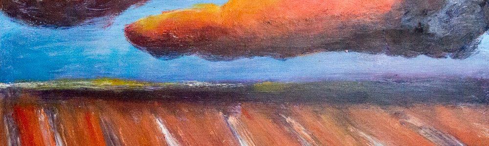 581007 Orange Wolke * Orange Cloud