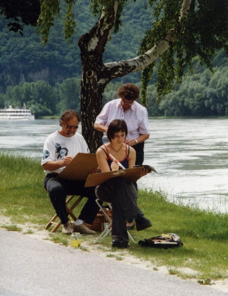 Plein Air Malerei - Workshop mit Heinz Knapp in der Wachau, Niederösterreich 1999 * Plein Air with Heinz Knapp in Lower Austria 1999
