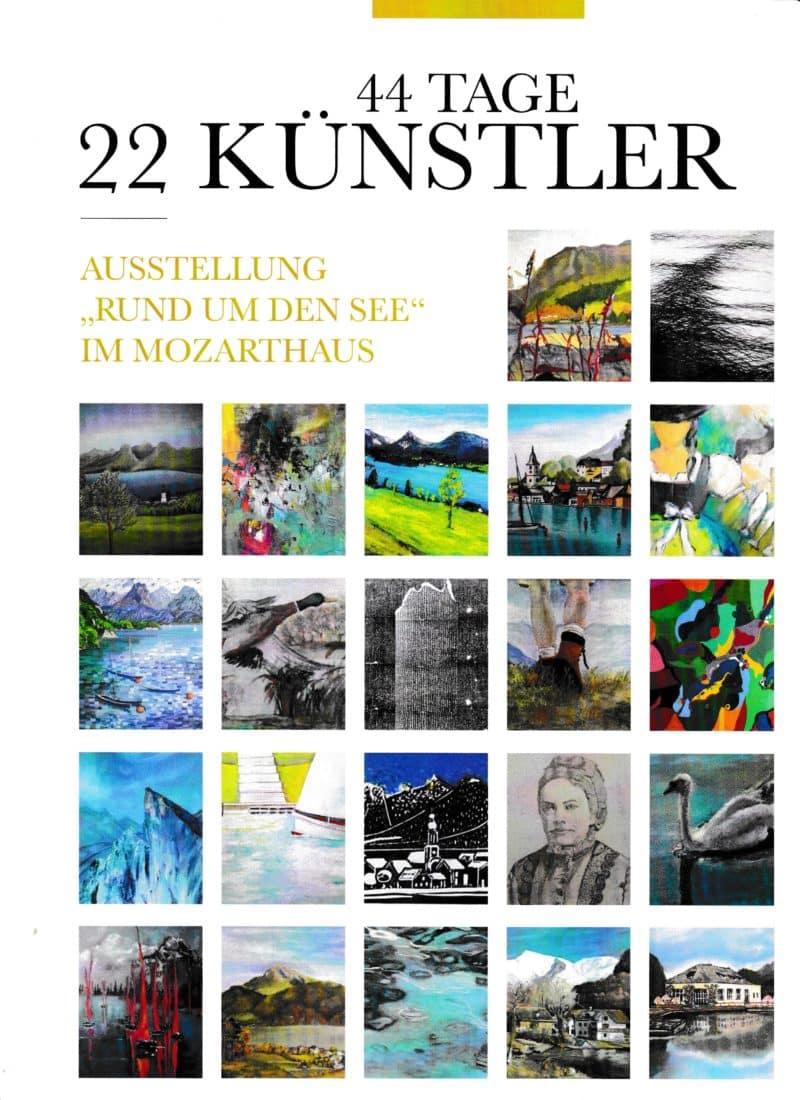 Einladungs-Collage für Ausstellung im Mozarthaus