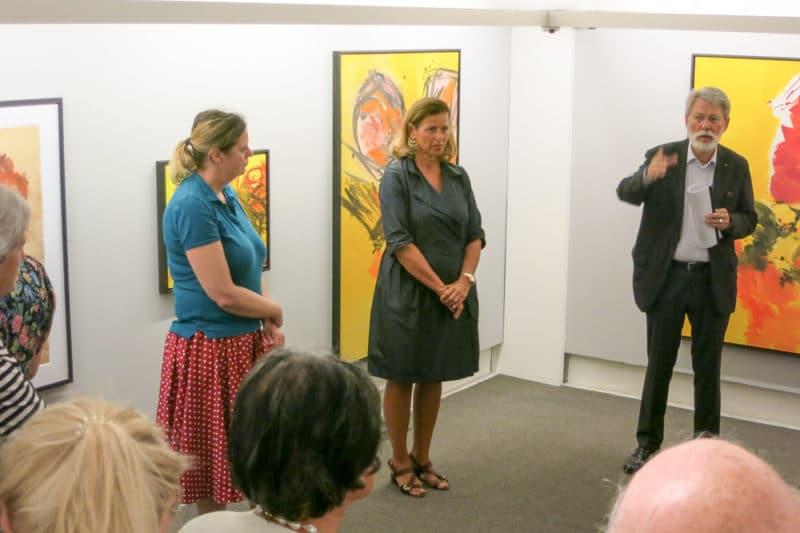 Eröffnung der Ausstellung Josef Mikl