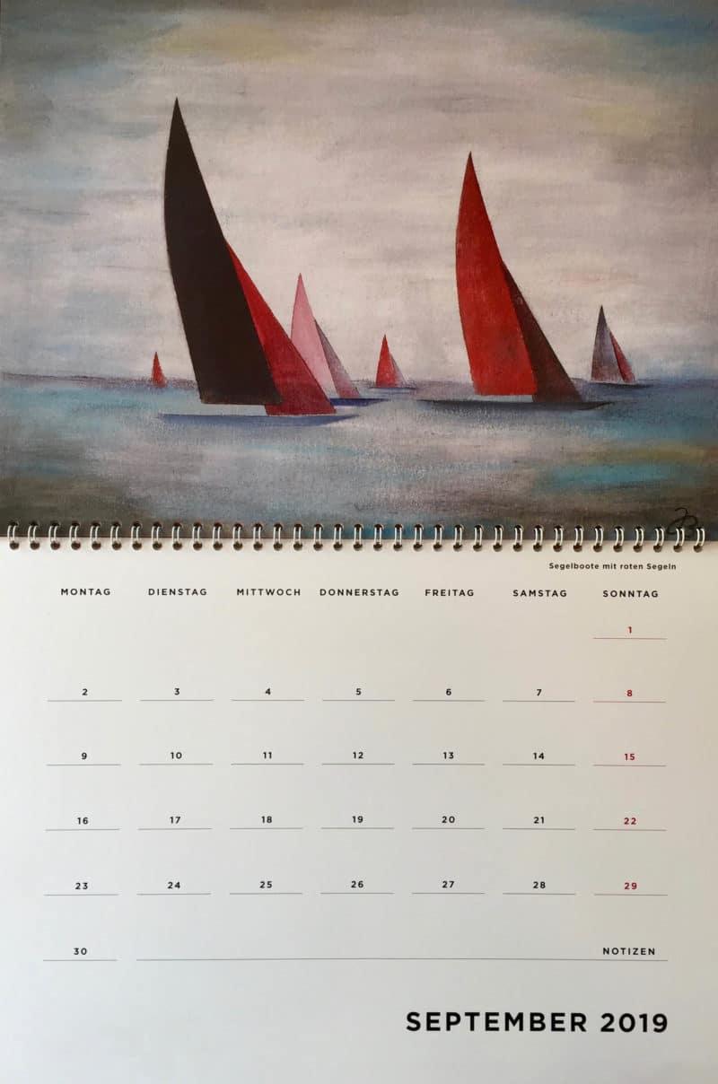Kalenderblatt für September 2019-09