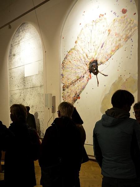 Blick in die Ausstellung - Nachtvogel © Kulturkirche Bremen