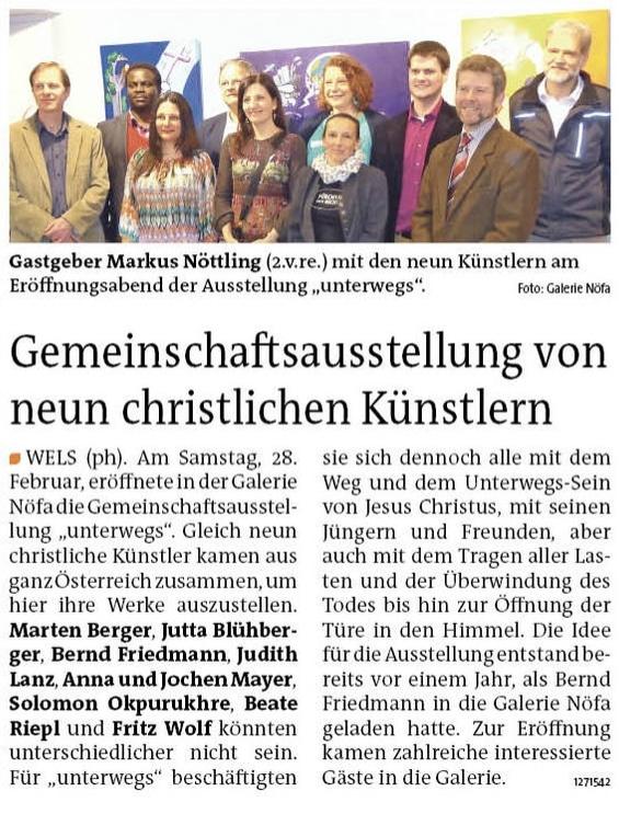 Unterwegs - Bezirksrundschau Wels Ausgabe 11-2015 Artikel