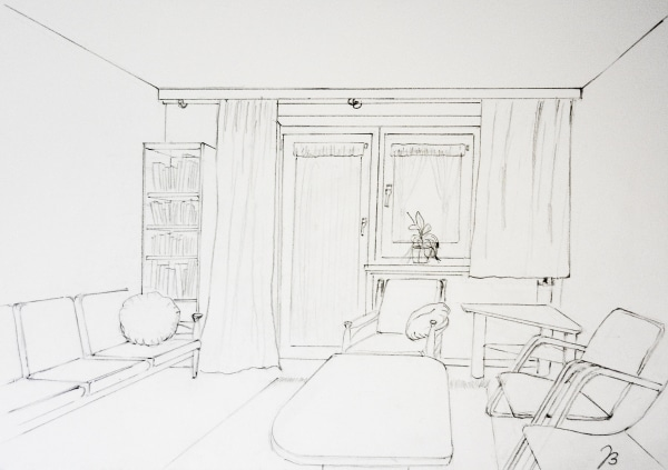 Room With a View – Pencil Drawing