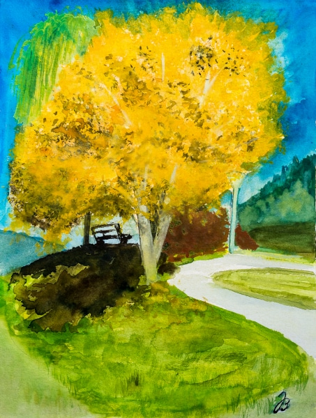 Fall Starts Today – Aquarelle Painting – SOLD
