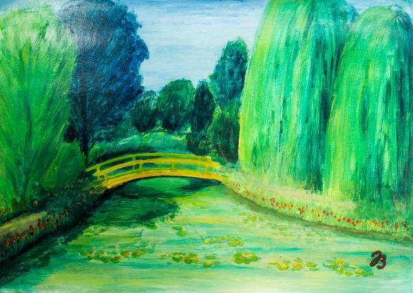 Monet's Garden – Gouache Painting