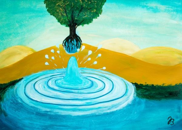 Durstiger Baum 1 – Acryl Malerei