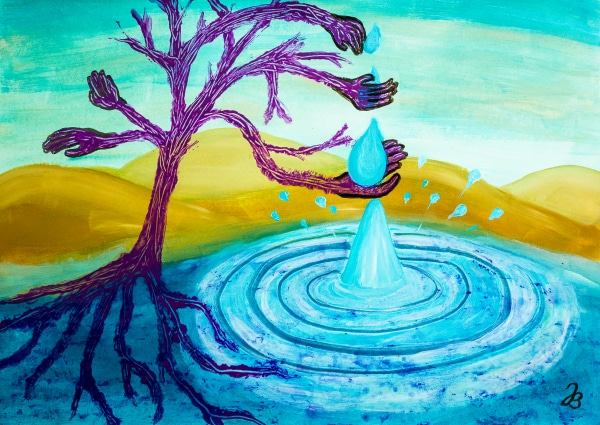 Thirsty Tree 2 – Acrylic Painting