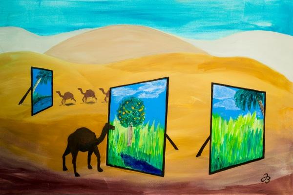 Wüsten Erinnerungen – Acryl Malerei