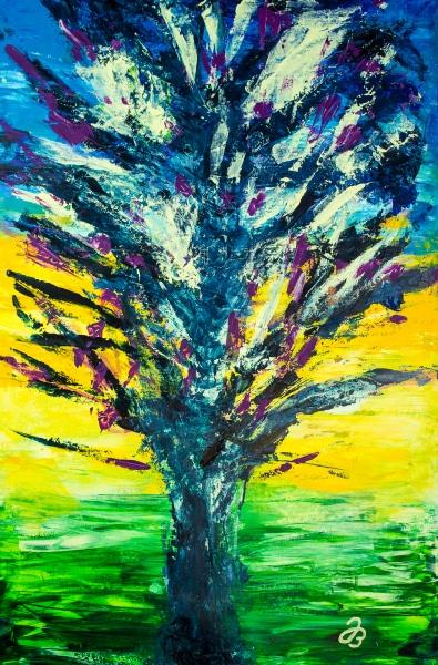 Baum Explosion – Acryl Malerei