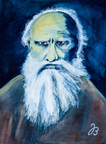 Tolstoy Portrait – Aquarell Painting