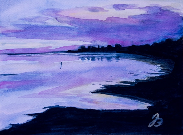 Grado Sunset – Aquarell Painting