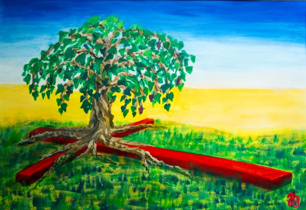 Rooted – Acrylic Painting