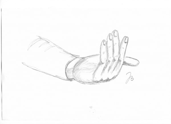 Hand studies #6 and #7 – Pencil Drawings