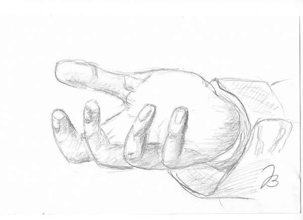 Hand study #4 and #5 – Pencil Drawing