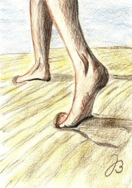 Feet Studies 6 and 7 – Pastels Drawing