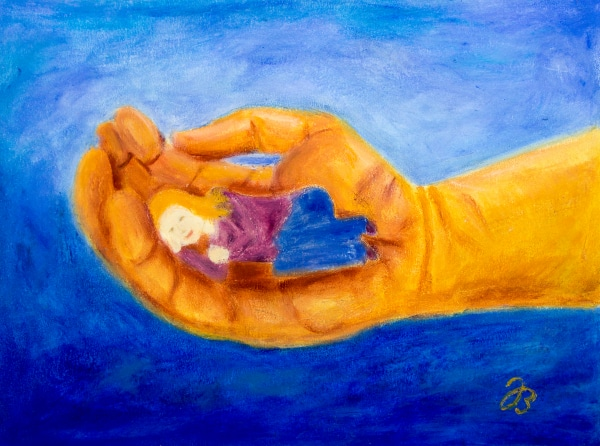 Safe in God's Hand – Cold Wax Painting